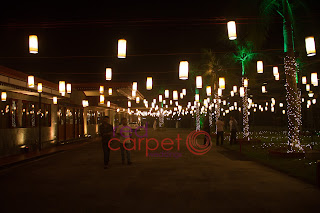 hotel back water ripples night wedding decor