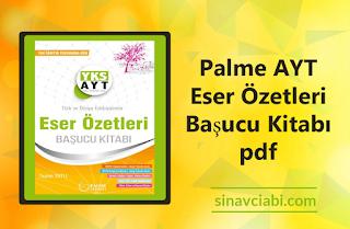 Palme AYT Eser Özetleri Başucu Kitabı pdf