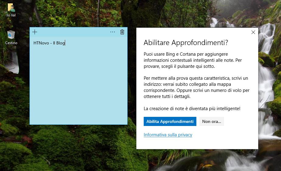 Sticky Notes in Windows 10 si aggiorna e riceve nuove funzionalità HTNovo 2