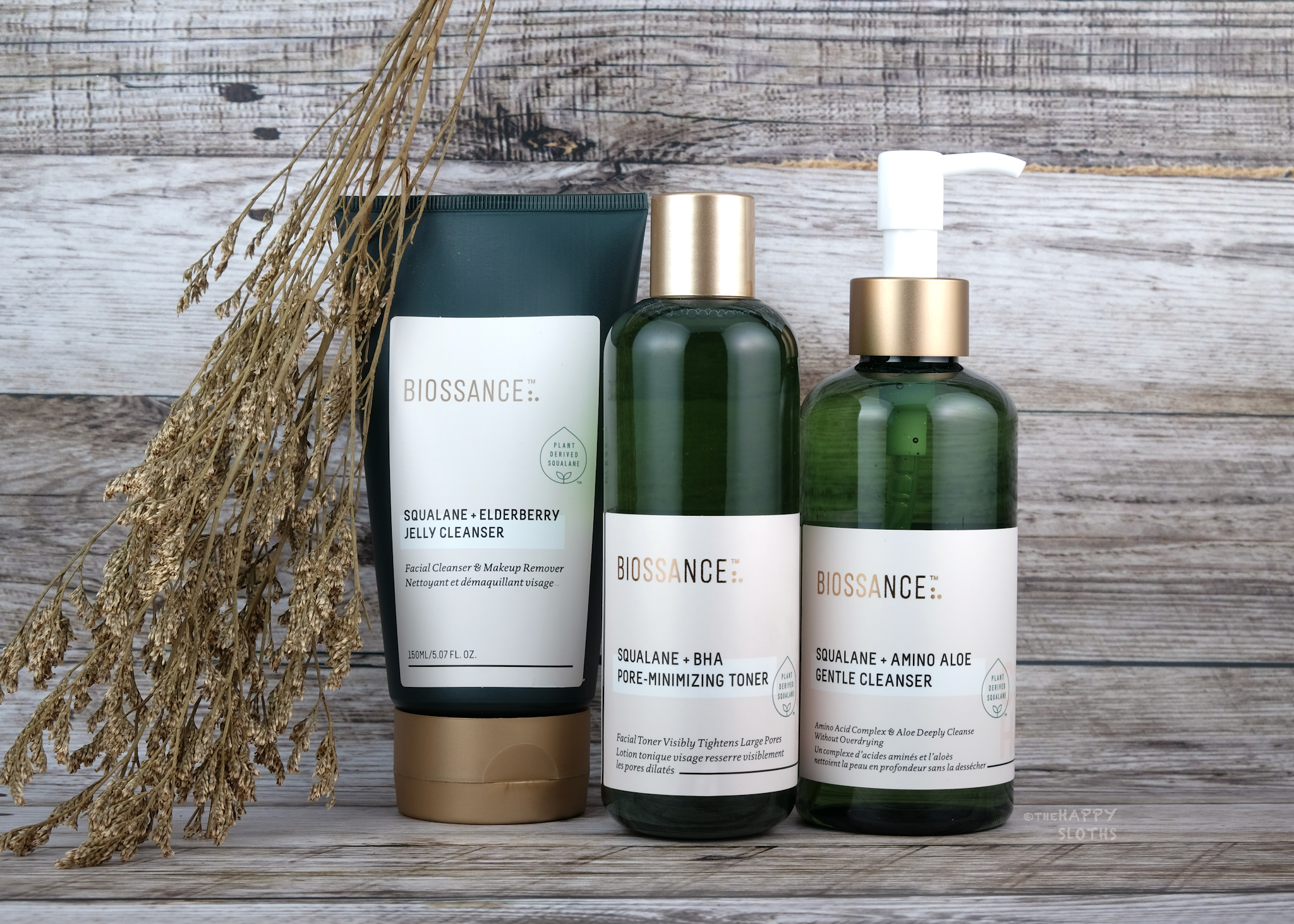 Biossance | Squalane + Amino Aloe Gentle Cleanser, Biossance Squalane + BHA Pore-Minimizing Toner & Squalane + Elderberry Jelly Cleanser: Review