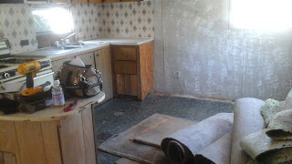 mobile home rebuild, 1970 trailer remodel, old single wide renovation