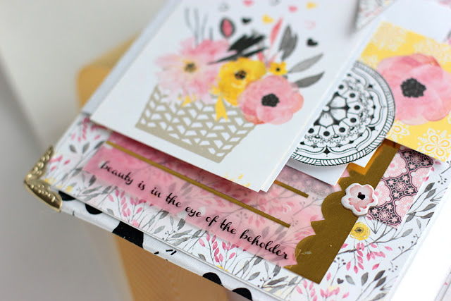 Inspire Mini Album by Elena Olinevich using BoBunny Petal Lane Collection