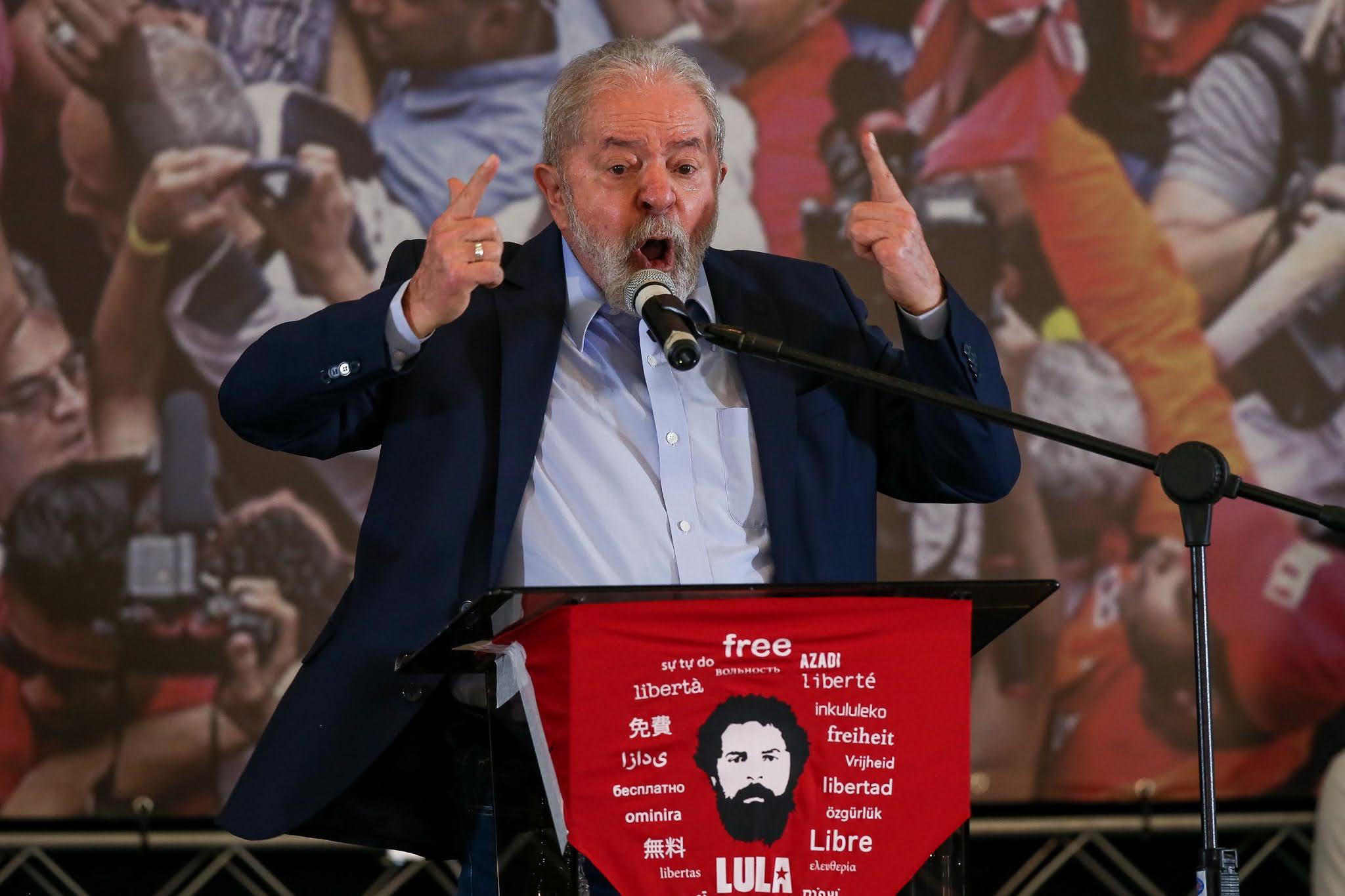 Lula após ficar livre das acusações