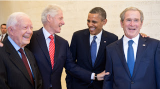 image of Carter, Clinton, Obama and Bush 42