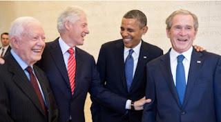image of Carter, Clinton, Obama and Bush 42