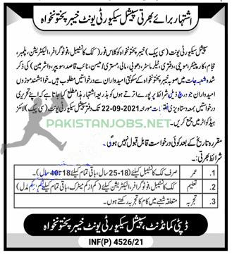 Special Security Unit Jobs September 2021