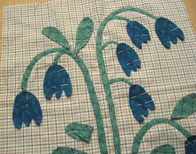 Bluebells for Linda Brannock's Flowers quilt
