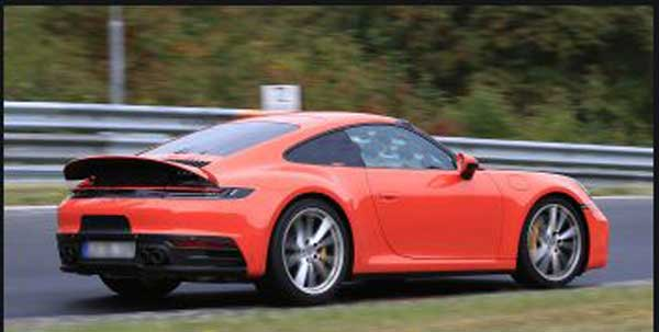 Spied 2020 porsche 911 Turbo facelift side View