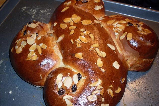 Use your bread machine for the dough, Swedish Saffron Bread.