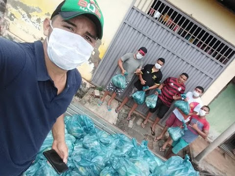 Pinto Catingueiro realiza doações para famílias prejudicadas pela quarentena em Poção de Pedras