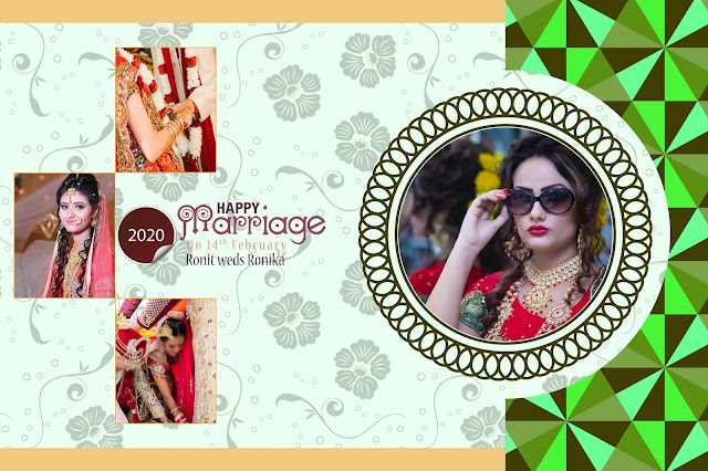 indian wedding album cover design 12x18 psd templates