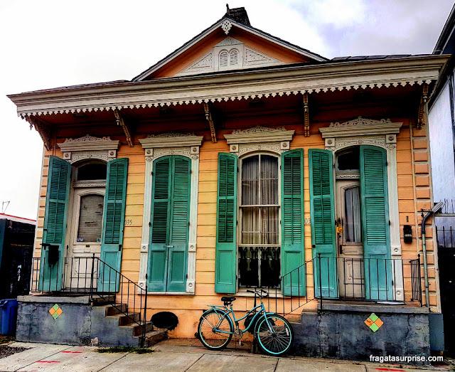 Típica casa creole, no Faubourg Marigny