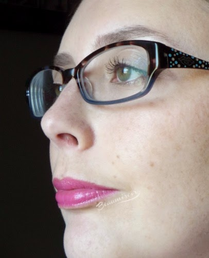 Lancome Shine Lover Vibrant Shine Lipstick French Sourire #340 lip swatch full face LOTD