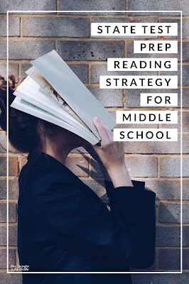 Give your middle school students this 7 step process to use when taking the state tests in reading.