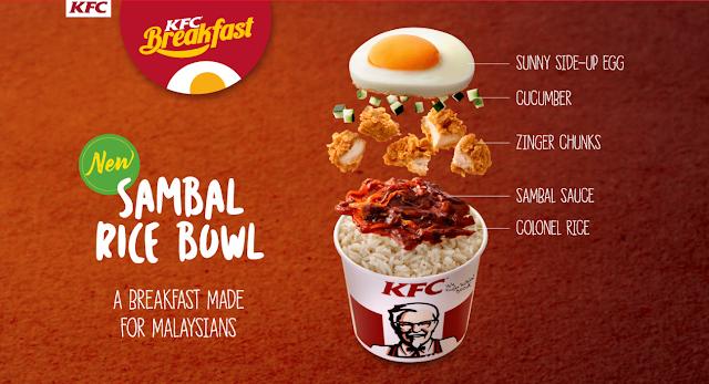 Harga Sambal Rice Bowl - KFC Breakfast - Senarai Harga ...