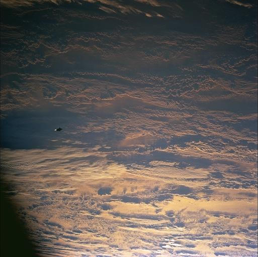 This is the actual NASA photo from the NASA archives of the Black Knight Satellite UFO STS088-724-70.
