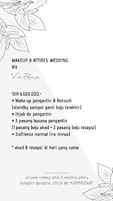 harga MUA wedding di Batam