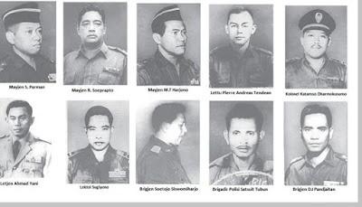 Nama nama tokoh pahlawan revolusi korban kekejaman G30S PKI 1965 - berbagaireviews.com