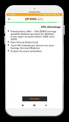 NSDL Zero avarage balance for lifetime offer before 30 june 2020