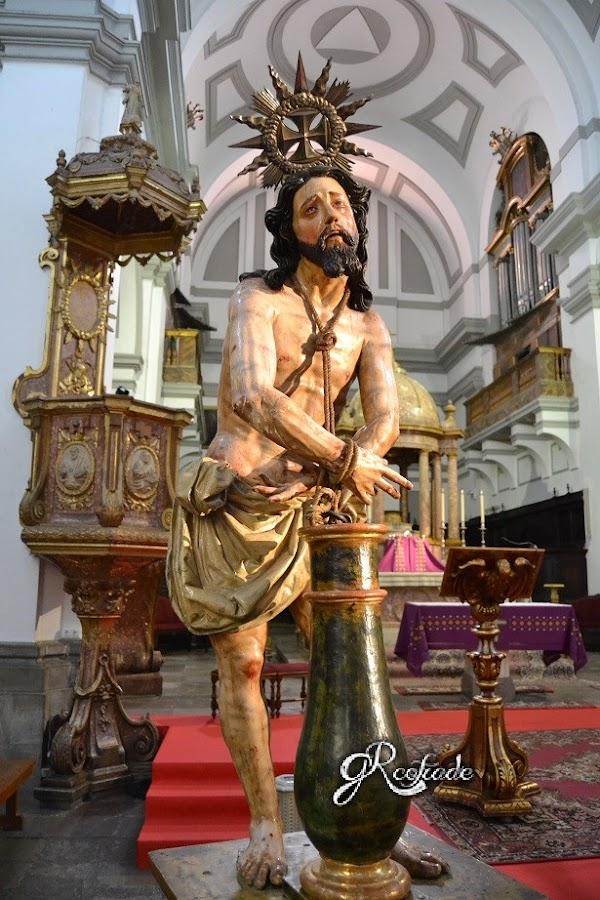 Intervención a Jesus atado a la Columna de Granada