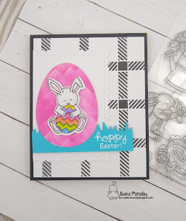 Hop into Spring a card by Diane Morales using the Hop Into Spring Stamp Set by Newton's Nook Designs