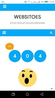 Halaman 404 dan Cara Memperbaikinya WEBSITOES