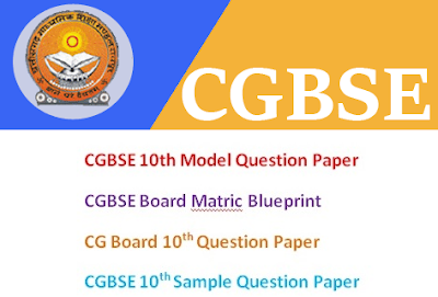 CGBSE 11th & 12th Model Questions Papers 2017 Blueprint