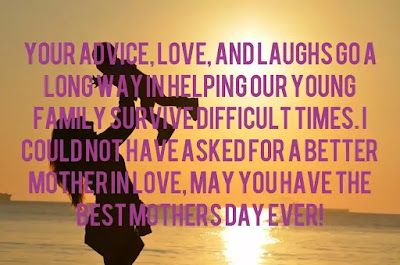 image of Funny Mother's Day quotes from husband to wife and mother in law