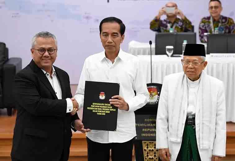 Jokowi Maruf dan KPU