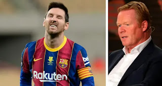 'I'm not confident he'll stay': Koeman speaks on Messi-Barca future
