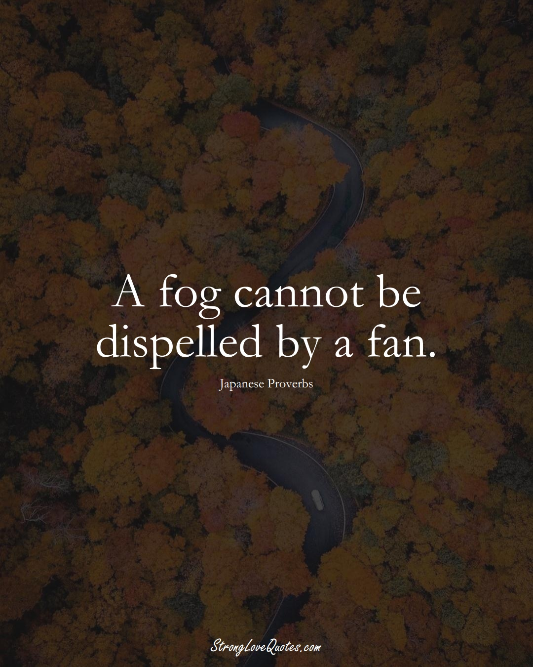 A fog cannot be dispelled by a fan. (Japanese Sayings);  #AsianSayings