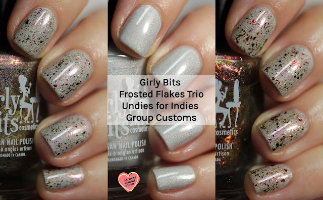 Girly Bits Frosted Flakes Trio swatch by Streets Ahead Style