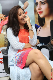 Actress Anasuya Bharadwaj in Orange Short Dress Glam Pics at Winner Movie Press Meet February 2017 (21).JPG