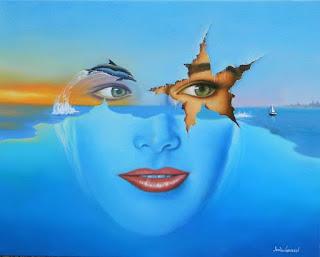paisajes-con-rostros-arte-surrealista cuadros-surrealistas-paisajes-y-rostros-femeninos