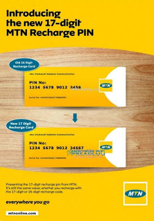 MTN Introduced A New 17 Digits Recharge Card Pin