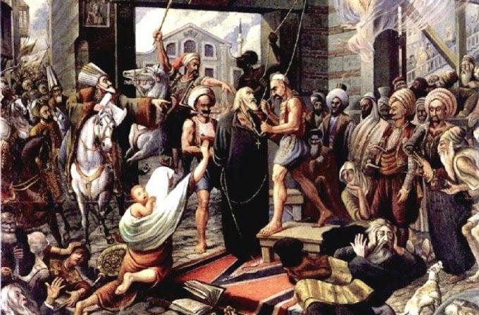 Στις 10 Απριλίου 1821 οι Τούρκοι απαγχόνισαν τον Πατριάρχη Γρηγόριο Ε'