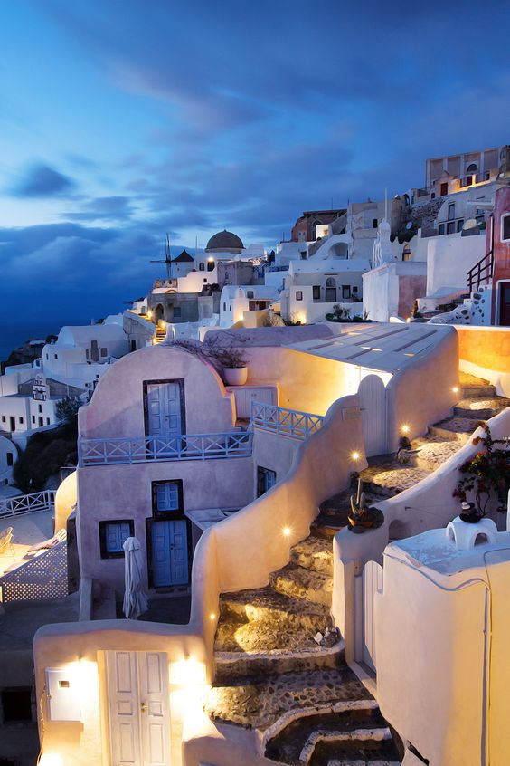 Oia, Santorini after dark - Ioanna's Notebook