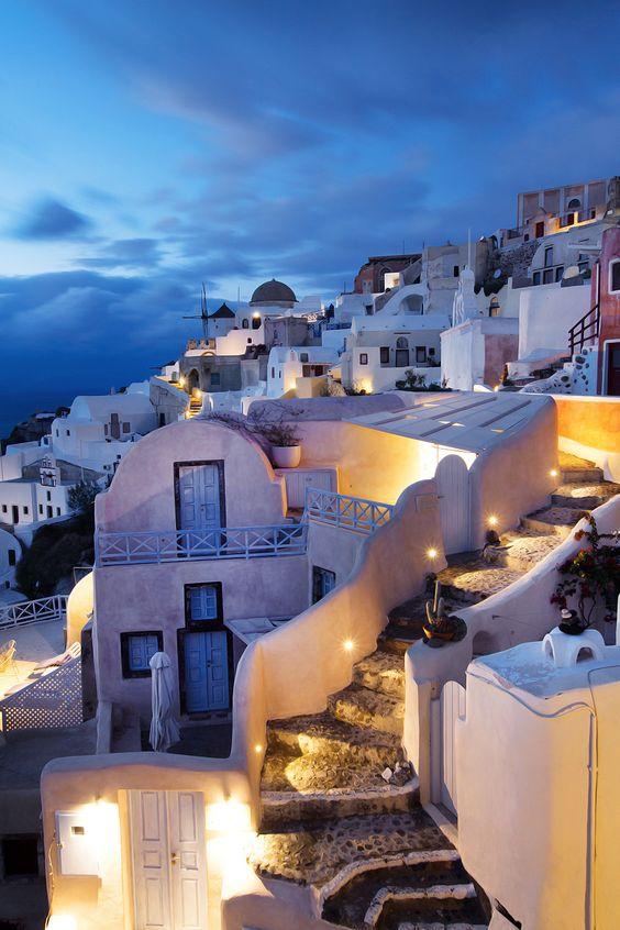 Oia, Santorini after dark - Ioanna's Notebook