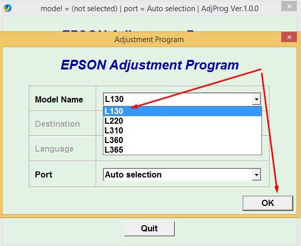 Hướng dẫn reset máy in màu Epson l310