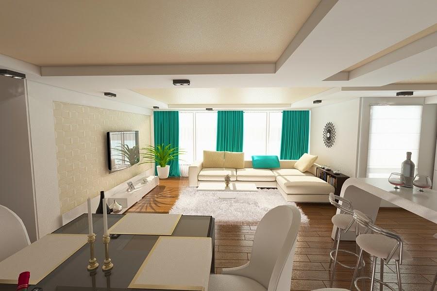 Design interior living case moderne Constanta - Design interior casa moderna Constanta