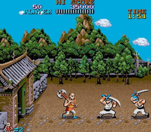 Tiger Road - versión Arcade