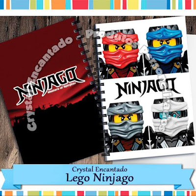 Cadernos Personalizados Lego Ninjago