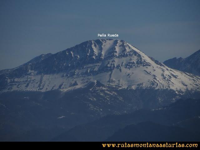 Ruta Linares, La Loral, Buey Muerto, Cuevallagar: Desde la Loral, vista Peña Rueda