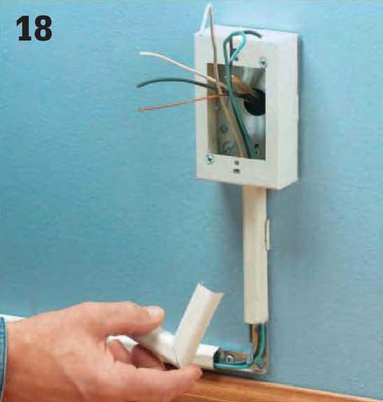 Instalaciones el ctricas residenciales 27 pasos para instalar cables en canaletas - Caja para ocultar cables ...