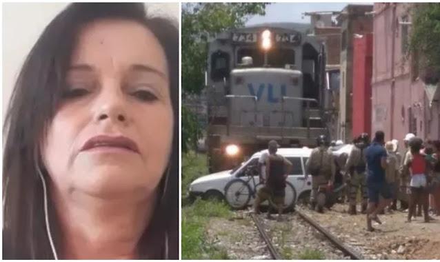 """Mulher sai ilesa após ter carro arrastado por trem: """"Levei meus pensamentos a Deus"""""""
