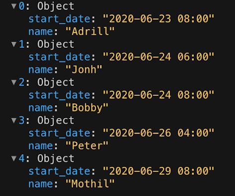 Sort an objects array by key in Javascript