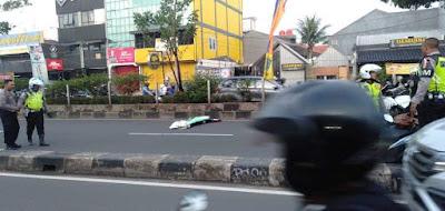 Kecelakaan motor vario di Depok sehingga kepala korban lepas