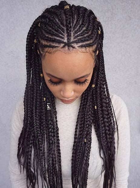 +27 Unique Tribal Braids Hairstyle 2019 For African American Women