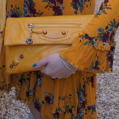 Balenciaga envelope clutch in 2012 mangue with giant 12 RGGH | awayfromtheblue