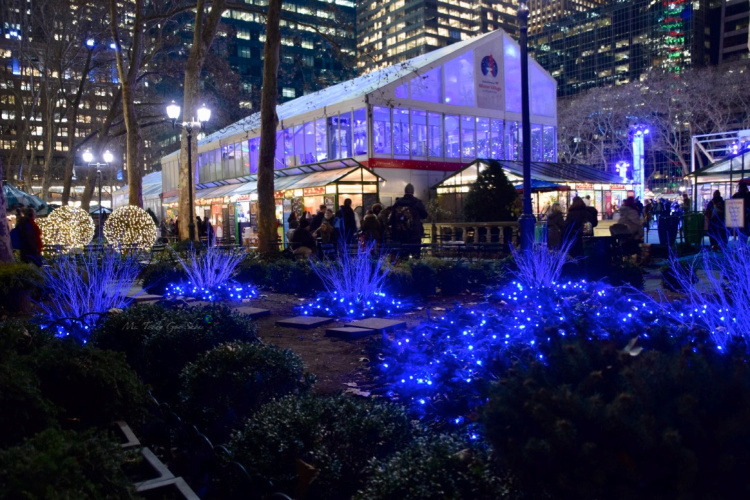Bryant Park's holiday pop-up shops in New York City is a must-see  when visiting the city in winter | Ms. Toody Goo Shoes